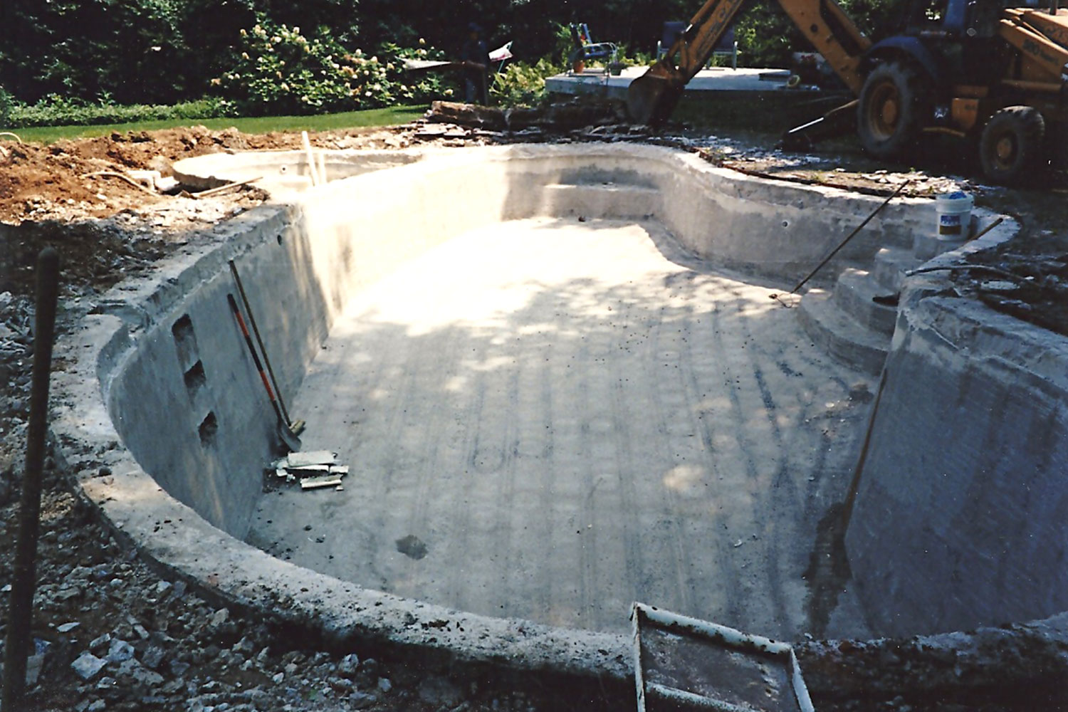 Before Renovation: Cantilever Decking, Tile and Plaster, Meadowbrook, PA