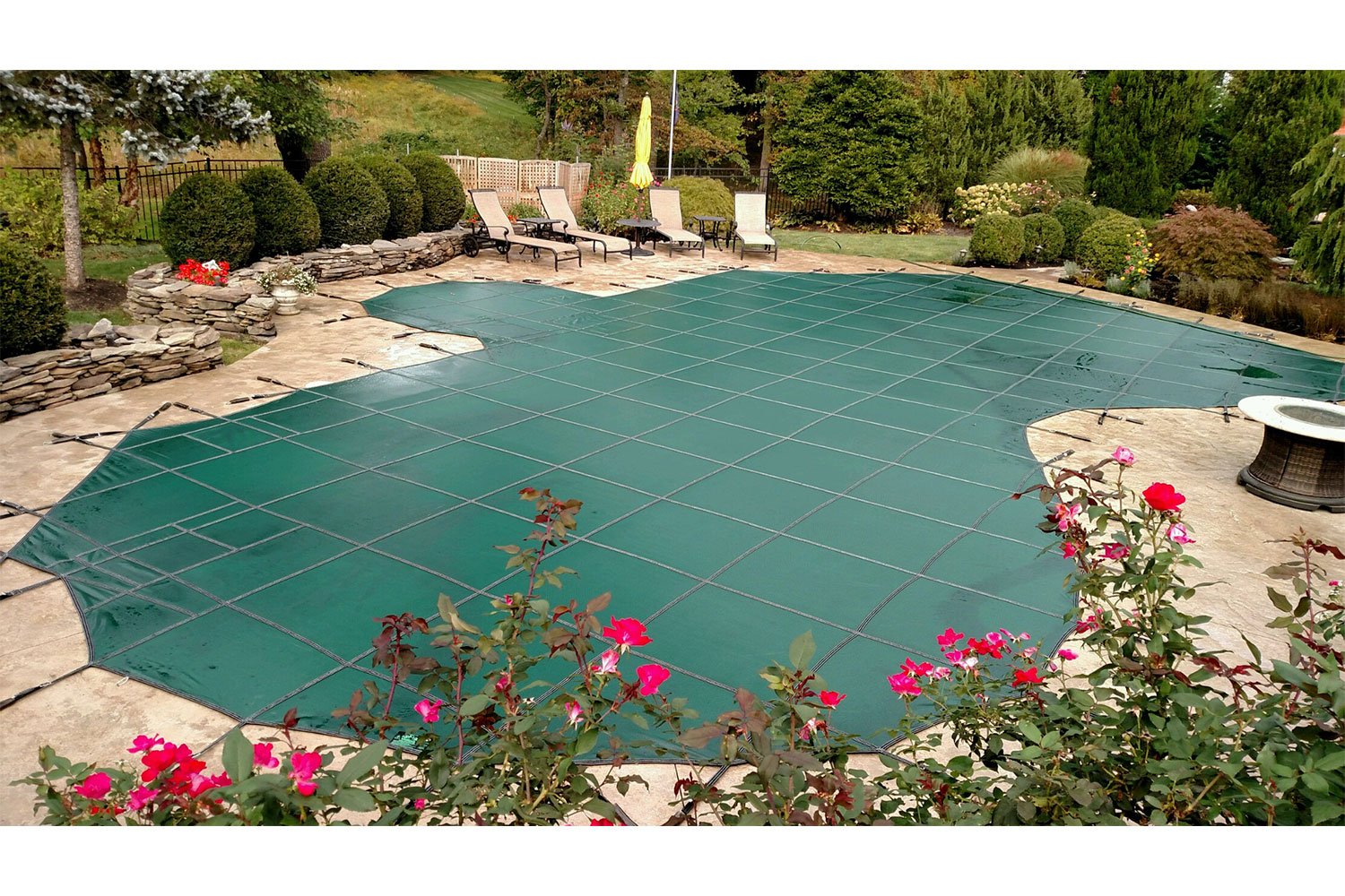 After: Always be sure to protect your beautiful investment with a high quality pool cover during the colder months